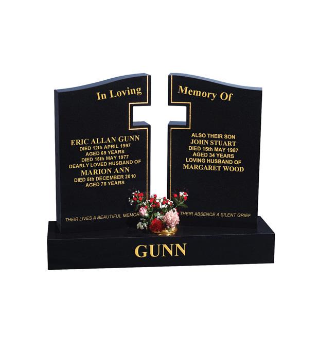 Double Grave Memorials Gunn