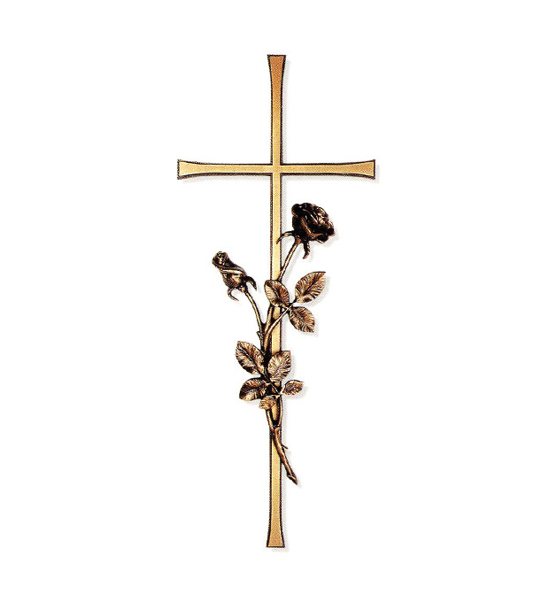 Memorial Attachments Cross And Rose