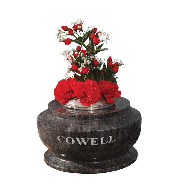 Vase Memorials Cowell